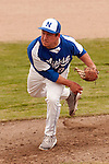 Nyssa's Zach Stratton pitches during the first game of a doubleheader between Vale and Nyssa on April 15, 2011 at Nyssa High School. Stratton pitched seven innings striking out six and walking four in a 4-1 loss to Vale.