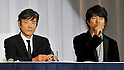 "Kyohei Shibata and Toru Nakamura, Nov 29, 2011 : November : Tokyo, Japan, Japanese actor Kyohei Shibata and Toru Nakamura appears at a press conference for the film ""Kita no Kanaria tachi"" in the Tokyo."