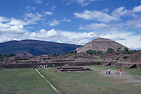 The pre-Hispanic ruins of Teotihuacan near Mexico City, Mexico