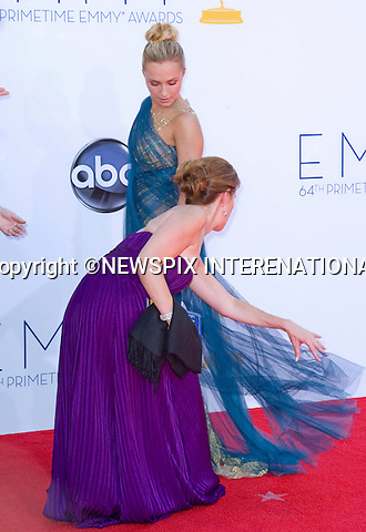 """HAYDEN PANETTIERE - 64TH PRIME TIME EMMY AWARDS.Nokia Theatre Live, Los Angelees_23/09/2012.Mandatory Credit Photo: ©Dias/NEWSPIX INTERNATIONAL..**ALL FEES PAYABLE TO: """"NEWSPIX INTERNATIONAL""""**..IMMEDIATE CONFIRMATION OF USAGE REQUIRED:.Newspix International, 31 Chinnery Hill, Bishop's Stortford, ENGLAND CM23 3PS.Tel:+441279 324672  ; Fax: +441279656877.Mobile:  07775681153.e-mail: info@newspixinternational.co.uk"""