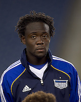 Kansas City Wizards midfielder Kei Kamara (23). The New England Revolution defeated Kansas City Wizards, 1-0, at Gillette Stadium on October 16, 2010.