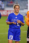 18 June 2003: Kristine Lilly of the Boston Breakers. The WUSA All-Star Skills Competition was held at SAS Stadium in Cary, NC.