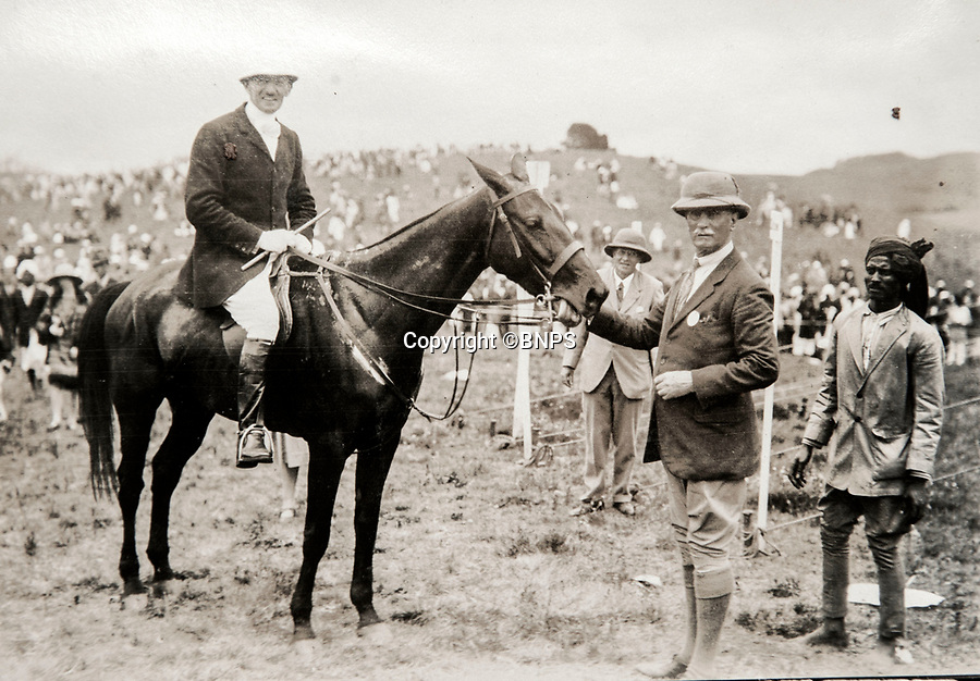 BNPS.co.uk (01202 558833)<br /> Pic: PhilYeomans/BNPS<br /> <br /> Day at the Races - Lord Goschen presenting prizes at a point to point race in the southern hill station of Ooty.<br /> <br /> Last Days of the Raj - A fascinating family album from one of the last Viceroy's of India reveal Britain's 'Jewel in the Crown' in all its splendour.<br /> <br /> The family album of Viscount George Goschen has been unearthed after 90 years, and provide's an amazing snapshot of the pomp and pageantry of a wealthy and powerful British family in India in the 1920s and 30's.<br /> <br /> They show the Governor of Madras and his family enjoying a lavish lifestyle of parades, banquets and hunting and horse racing in the last decades of the Raj.<br /> <br /> At the time, Gandhi was organising peasants, farmers and labourers to protest against excessive land-tax and discrimination. <br /> <br /> The album consists of some 300 large photographs. They have remained in the family for 90 years but have now emerged for auction following a house clearance and are tipped to sell for &pound;200.