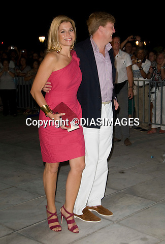 """CROWN PRINCE WILLEM AND  CROWN PRINCESS MAXIMA OF NETHERLANDS _.at the cocktail party hosted by his parents King Constantine and  Queen Anne Marie at the Poseidonion Grace Hotel, Spetses_24/08/2010.Mandatory Credit Photo: ©DIASIMAGES..**ALL FEES PAYABLE TO: """"NEWSPIX INTERNATIONAL""""**..IMMEDIATE CONFIRMATION OF USAGE REQUIRED:.Newspix International, 31 Chinnery Hill, Bishop's Stortford, ENGLAND CM23 3PS.Tel:+441279 324672; Fax: +441279656877.e-mail: info@newspixinternational.co.uk"""