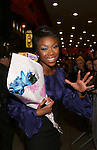 Brandy Norwood greeting her fans