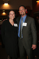 STANFORD, CA - NOVEMBER 14:  Kristin Folkl (Kristin Kaburakis) and David McCarty during the Stanford Hall of Fame Induction Ceremony on November 14, 2008 at the Schwab Residential Center in Stanford, California.