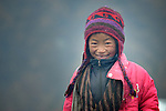Devimaya Tamang, a 7-year old girl, lives in Gatlang, in the Rasuwa District of Nepal. <br /> <br /> <br /> Parental consent obtained.