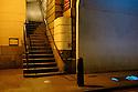 """London, UK. 17.03.2015. """"Nancy's Steps"""", as immortalised in Charles Dickens' """"Oliver Twist"""", London Bridge. Photograph © Jane Hobson."""
