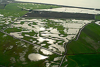 aerial photograph flooding Sonoma County, California