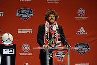 Nick DeLeon 7th pick of first round by DC Utd... The 2012 MLS Superdraft was held on January 12, 2012 at The Kansas City Convention Center, Kansas City, MO.