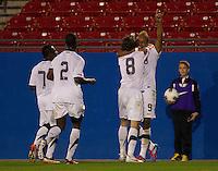 FRISCO, TX - FEBRUARY  29, 2012: U.S. U-23 Men's National Team against Mexico U-23 at FC Dallas Stadium on February 29, 2012 in Frisco, Texas.