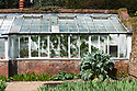 Kitchen garden greenhouse, Hinton Ampner, Hampshire, late April.