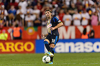 Jeff Parke (31) of the Philadelphia Union. The New York Red Bulls and the Philadelphia Union played to a 0-0 tie during a Major League Soccer (MLS) match at Red Bull Arena in Harrison, NJ, on August 17, 2013.