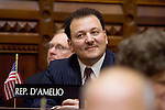 HARTFORD, CT- 07 JANUARY 2008 --010709JS03-Rep. Anthony D'Amelio, R-71st District, listens to speeches during the opening day of the general assembly Wednesday at the state Capitol in Hartford. <br /> Jim Shannon / Republican-American
