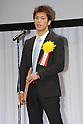Ryota Murata,.JANUARY 25, 2012 - Boxing :.Amateur's MVP winner Ryota Murata speaks during the Japan's Boxer of the Year Award 2011 at Tokyo Dome Hotel in Tokyo, Japan. (Photo by Hiroaki Yamaguchi/AFLO)