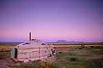 Yurt, Ger camp, Gov Altai Province, Mongolia