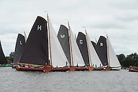 SKUTSJESILEN: GROU: SKS skûtsjesilen, Friese Sporten, 30-07-2011, Fryslân, skûtsjes Lemmer, Heerenveen, Súdwesthoek, Grou, Bolsward, ©foto Martin de Jong..