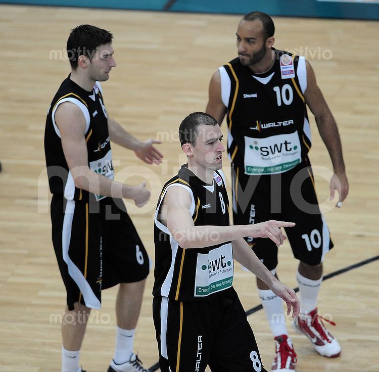Basketball   1. Bundesliga 2009/2010  22.04.2010 Walter Tigers Tuebingen -   Telekom Baskets Bonn Aleksandar Nadjfeji (Mitte, Tigers)