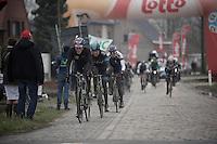 Dwars Door Vlaanderen 2013.Nikki Terpstra (NLD) leading a group