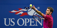 NEW YORK, USA - SEPT 11, Stan Wawrinka of Switzerland serves to Novak Djokovic of Serbia during their Men's Singles Final Match of the 2016 US Open at the USTA Billie Jean King National Tennis Center on September 11, 2016 in New York.  photo by VIEWpress
