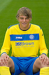 St Johnstone FC...Season 2011-12.Ryan Hutchinson.Picture by Graeme Hart..Copyright Perthshire Picture Agency.Tel: 01738 623350  Mobile: 07990 594431