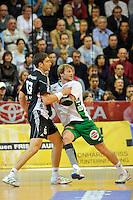 links Marcus Ahlm (THW), rechts Manuel Späth (FAG)