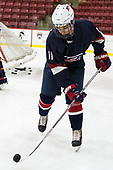 Jacob Tortora (NTDP - 11) - The Harvard University Crimson defeated the US National Team Development Program's Under-18 team 5-2 on Saturday, October 8, 2016, at the Bright-Landry Hockey Center in Boston, Massachusetts.