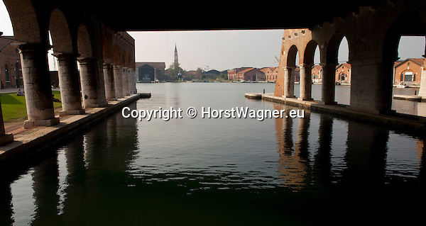 Castello, Venice, Italy; October 05, 2012 -- The Arsenale, a historic shipyard and naval depot; architecture, infrastructure -- Photo: © HorstWagner.eu