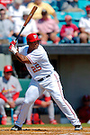 8 March 2006: Marlon Byrd, outfielder for the Washington Nationals, at bat during a Spring Training game against the St. Louis Cardinals. The Cardinals defeated the Nationals 7-4 in 10 innings at Space Coast Stadium, in Viera, Florida...Mandatory Photo Credit: Ed Wolfstein.