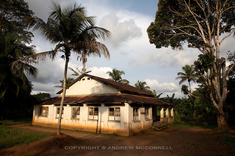 Former office of the preeminent banana expert and Belgain scientist Edmond De Langhe at Kilometer 5, Yangambi, DR Congo, pictured on Monday, Dec. 8, 2008. Km 5 was the research complex where De Langhe planted his bananas and where he lived (house since destroyed). He gathered bananas from all over the world to plant here and worked on developing subsistence bananas and investigating banana history in Africa. When De Langhe left in 1960 his bananas, including Ibota Ibota (aka Yangambi km5), spread all over Congo.