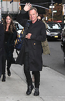 NEW YORK, NY - NOVEMBER 10: Sting spotted arriving at 'The Late Show with Stephen Colbert'  in New York, New York on November 10, 2016.  Photo Credit: Rainmaker Photo/MediaPunch