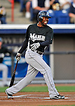 13 March 2008: Florida Marlins' outfielder Alejandro De Aza in action during a Spring Training game against the Washington Nationals at Space Coast Stadium, in Viera, Florida. The Marlins defeated the Nationals 2-1 in the Grapefruit League matchup...Mandatory Photo Credit: Ed Wolfstein Photo