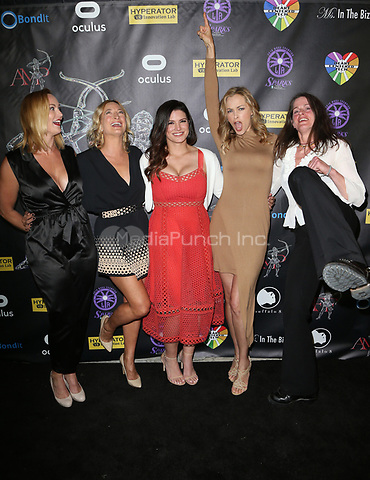 BEVERLY HILLS, CA - April 20: Vanessa Cater, Zoe Bell, Gina Carano, Kristanna Loken, Melanie Wise, At Artemis Women in Action Film Festival - Opening Night Gala At The Ahrya Fine Arts Theatre In California on April 20, 2017. Credit: FS/MediaPunch