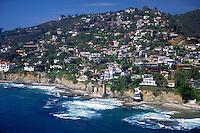 Laguna CA, Pirate Tower, Victoria Beach, Aerial, Coast, Luxury, Home, Aerial View, Coast, Waterfront, Luxury Home's Cliffs,