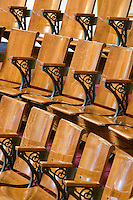 Gallery seating, Senate Chamber, at the New Jersey Legislative State House, Trenton, New Jersey