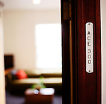 Room number 300, a corner deluxe suite at The Ace Hotel in downtown Portland, a hip budget boutique hotel.