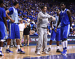 Head Coach John Calipari instructs his team during the Blue-White Scrimmage at Rupp Arena Wednesday night, October 26, 2011.  Photo by Scott Hannigan