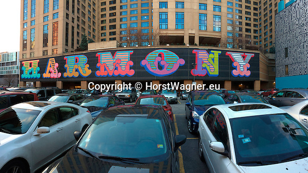 Chicago, Illinois, United States of America / USA; December 27, 2016 -- South Loop: mural 'HARMONY' by Ben Eine, public-street art along Wabash Avenue and South State Street -- Photo: © HorstWagner.eu
