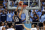 05 January 2015: Notre Dame's Zach Auguste (30) dunks the ball. The University of North Carolina Tar Heels played the University of Notre Dame Fighting Irish in an NCAA Division I Men's basketball game at the Dean E. Smith Center in Chapel Hill, North Carolina. Notre Dame won the game 71-70.