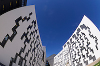 Vienna, Austria. Opening Day of the new WU Campus (University of Economics).<br /> D4 (Departments 4) by Estudio Carme Pinos, Barcelona.