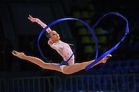 "VIKTORIA MASUR of Ukraine performs at 2011 World Cup Kiev, ""Deriugina Cup"" in Kiev, Ukraine on May 7, 2011."