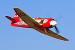 Owner and pilot Mike Brown flies his highly modified Hawker Sea Fury &quot;September Fury&quot; into the Valley of Speed during the 2006 Reno Championship Air Races. September Fury took the 2006 Unlimited Championship with a speed of 481.619 mph over the 67.29 mile course. Photographed 09/06