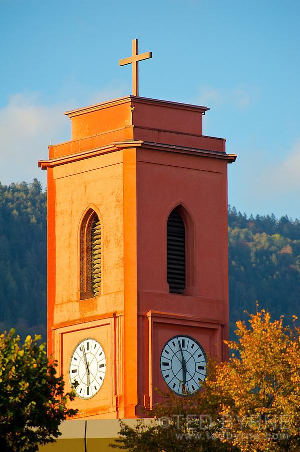 Red Church of Neuchâtel Switzerland