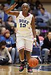 15 February 2012: Duke's Chelsea Gray. The Duke University Blue Devils defeated the Virginia Tech Hokies 67-45 at Cameron Indoor Stadium in Durham, North Carolina in an NCAA Division I Women's basketball game.