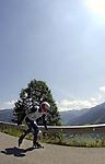 1. Inline Downhill Weltmeisterschaft, Zell am See (Austria) Strecke mit Blick ins Tal
