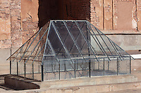 Original glass roof, Kasbah of the Glaoua family, Telouet, High Atlas, Morocco. The fortress was begun in the 19th century as the residence Thami el Glaoui, 1879-1956, who was Pasha of Marrakech 1912-56. It sits at 1800m in the Atlas mountains on an ancient caravan route from the Sahara to Marrakech. Picture by Manuel Cohen