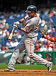 8 June 2008: San Francisco Giants' shortstop Emmanuel Burriss at bat against the Washington Nationals at Nationals Park in Washington, DC. The Giants rallied to defeat the Nationals 6-3 in their third consecutive win of the 4-game series...Mandatory Photo Credit: Ed Wolfstein Photo
