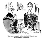 """""""Bad news on the film rights, Mrs Woolf. Chaplin says he doesn't play lighthouses."""""""