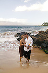 Couple on the beach at Wailea, Maui, Hawaii