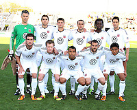 Starting eleven of D.C. United during the final round of the Carolina Challenge Cup against Toronto FC on March 12 2011 at Blackbaud Stadium in Charleston, South Carolina. D.C. The game ended in a 2-2 tie which was sufficient for D.C. United to win the tournament.